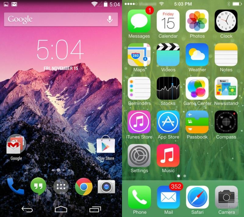 sự khác biệt cơ bản giữa hệ điều hành iOS và Android 3
