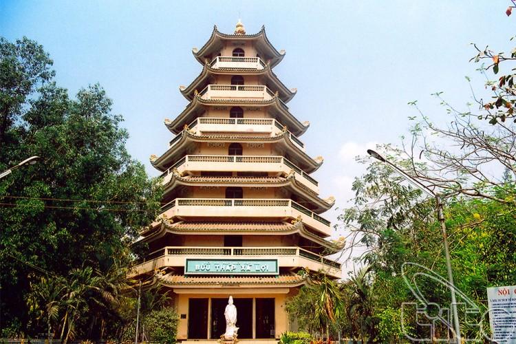 Bảo tháp Xá Lợi tại chùa Giác Lâm
