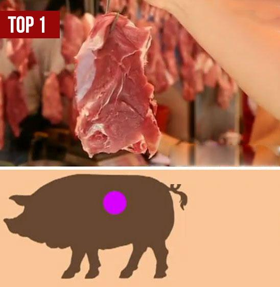 Vùng thịt ngon thứ 1 trên thân con lợn (Ảnh minh họa)