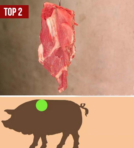 Vùng thịt ngon thứ 2 trên thân con lợn (Ảnh minh họa)