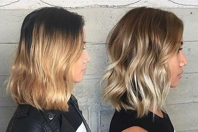 Màu tóc và màu da đầu tiệp nhau sẽ tạo ảo giác, giúp xóa đi những khoảng trống trên đầu của mái tóc quá mỏng.