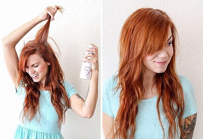 Dầu gội khô không chỉ giúp làm sạch tóc tạm thời mà còn giúp tóc trông bồng bềnh hơn.