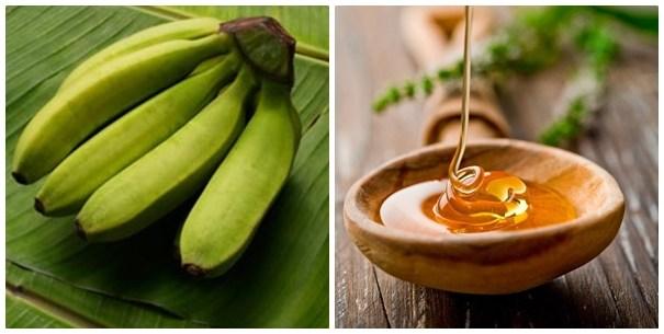 Chuối tiêu xanh và mật ong chữa đau dạ dày hiệu quả