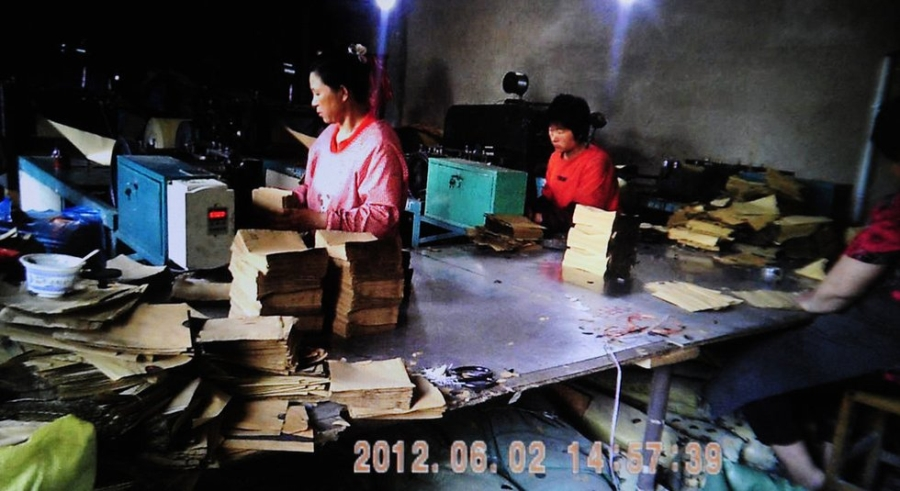Do nhu cầu lớn, những xưởng sản xuất túi tẩm thuốc trừ sâu bọc trái cây Trung Quốc mọc lên như nấm sau mưa.